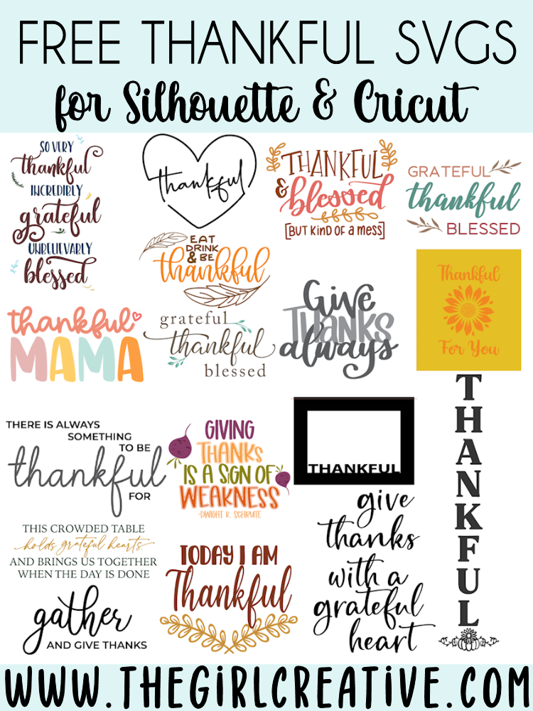 Thankful SVG Cut Files Collage