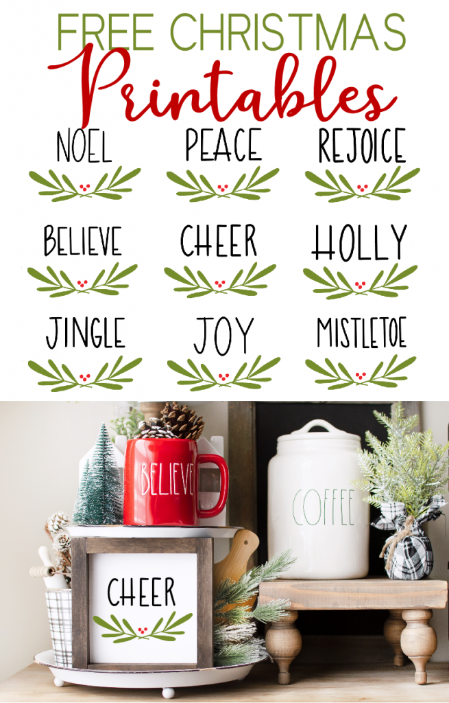 Cheer Sign with Christmas Words