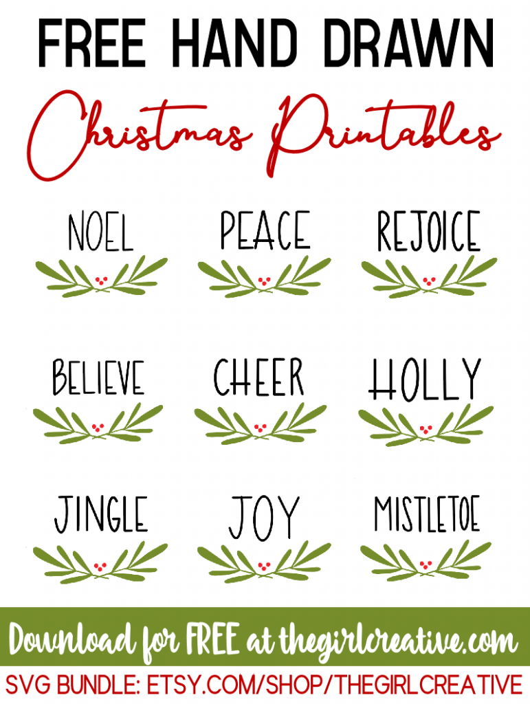 Hand Drawn Holiday Words