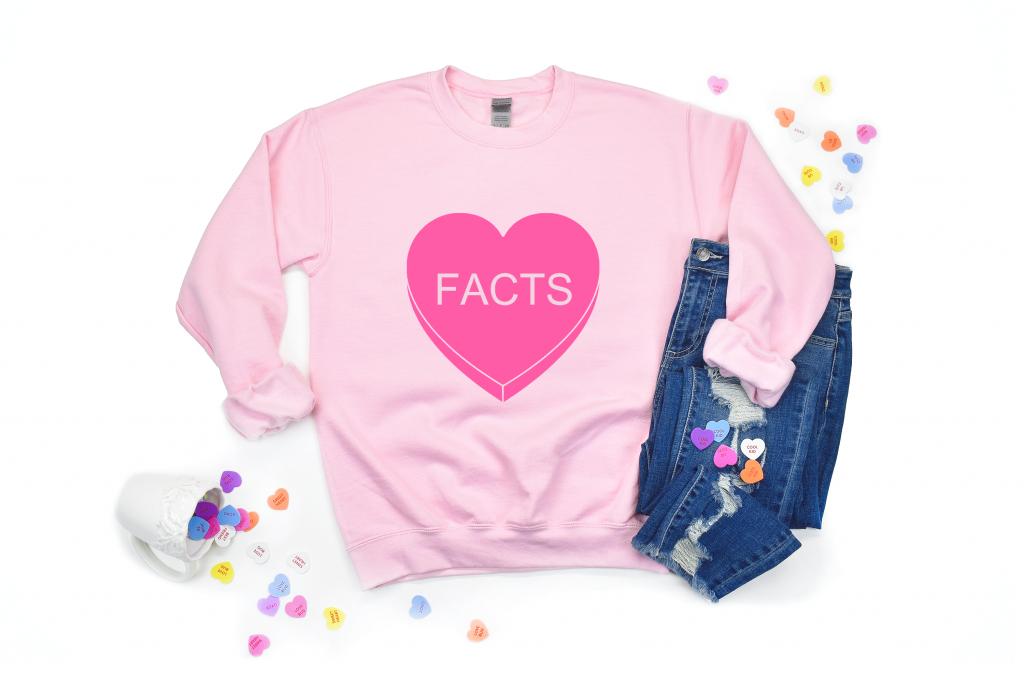 """""""Facts"""" Conversation Heart Shirt"""