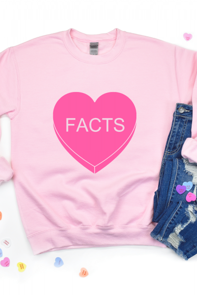 """Facts"" Conversation Heart Shirt"