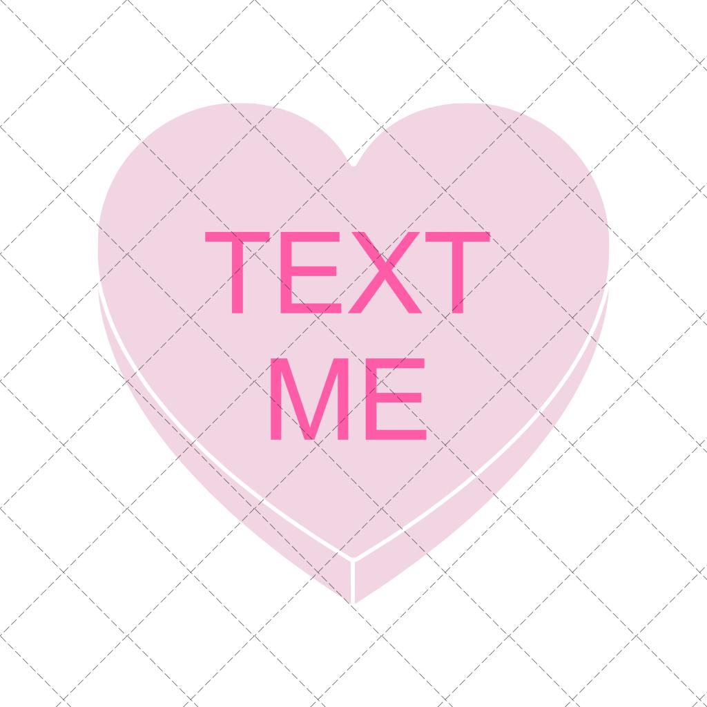 TEXT ME Conversation Heart Clipart