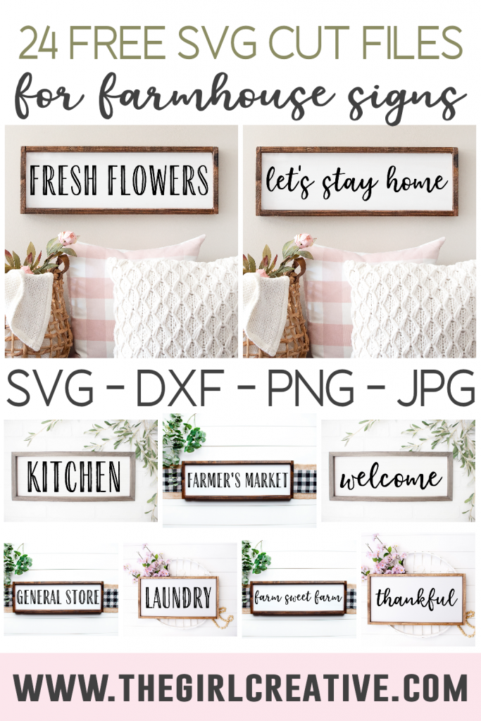 Photo collage of Wooden Farmhouse Signs