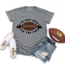Grey shirt with funny football quote
