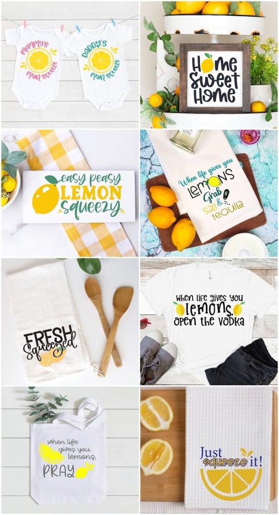 Project Ideas using Lemon Themed SVGS