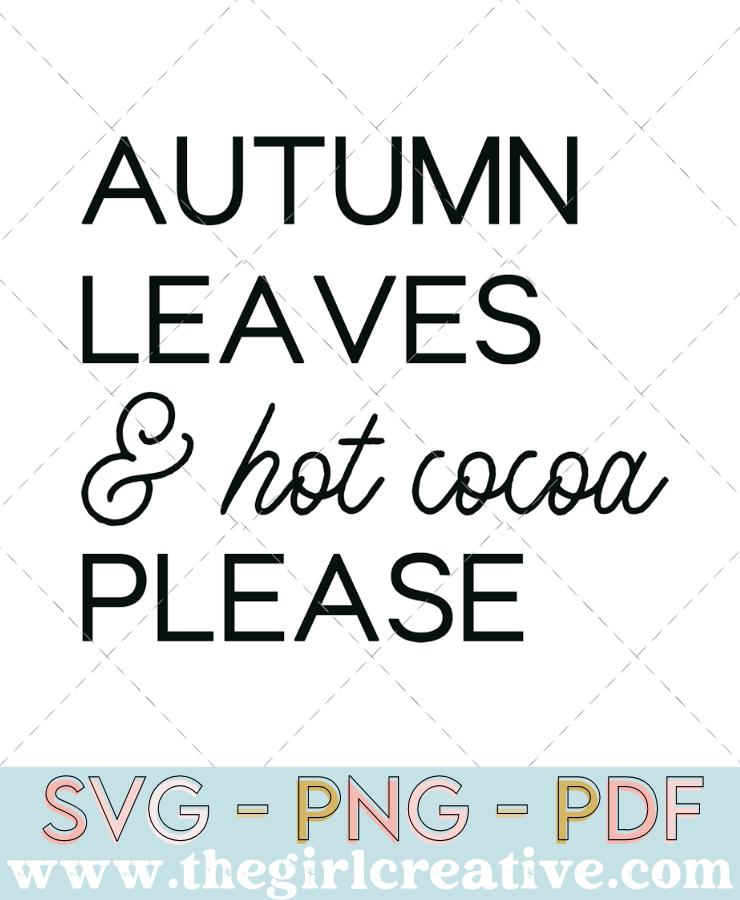 Autumn Leaves Saying