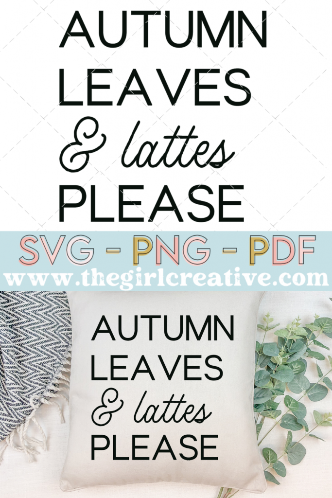 Autumn leaves svg with fall pillow
