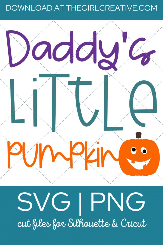 Daddy's Little Pumpkin SVG