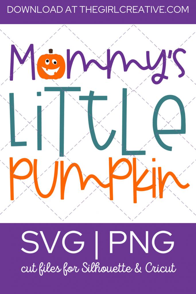 Mommy's Little Pumpkin SVG