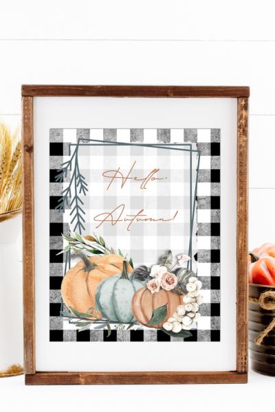 Hello Autumn Framed Artwork
