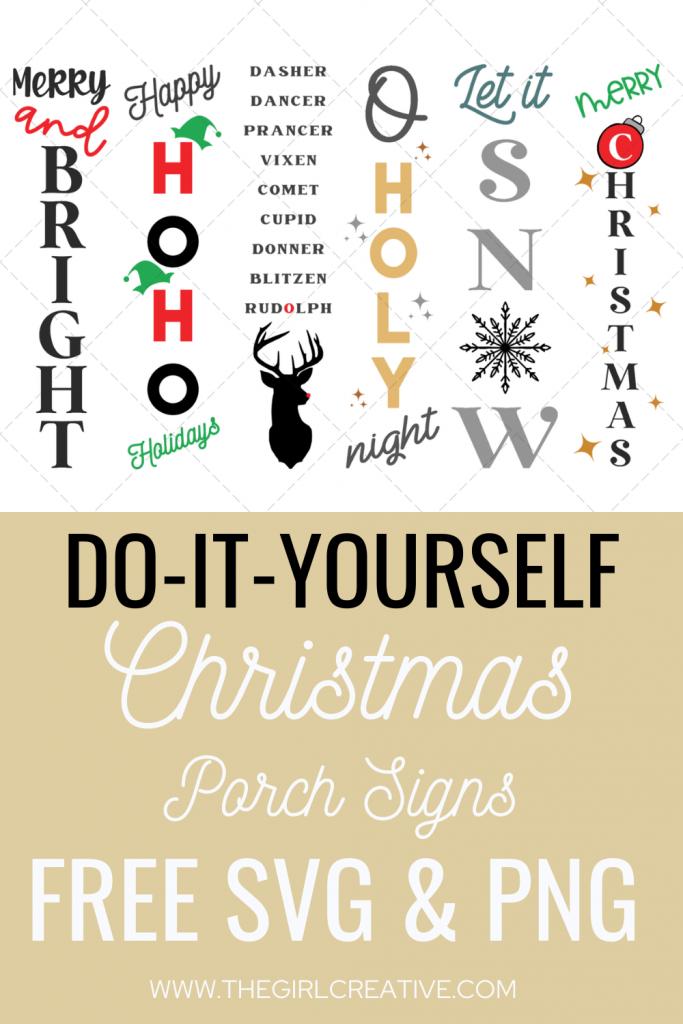 Christmas Porch Sign Designs