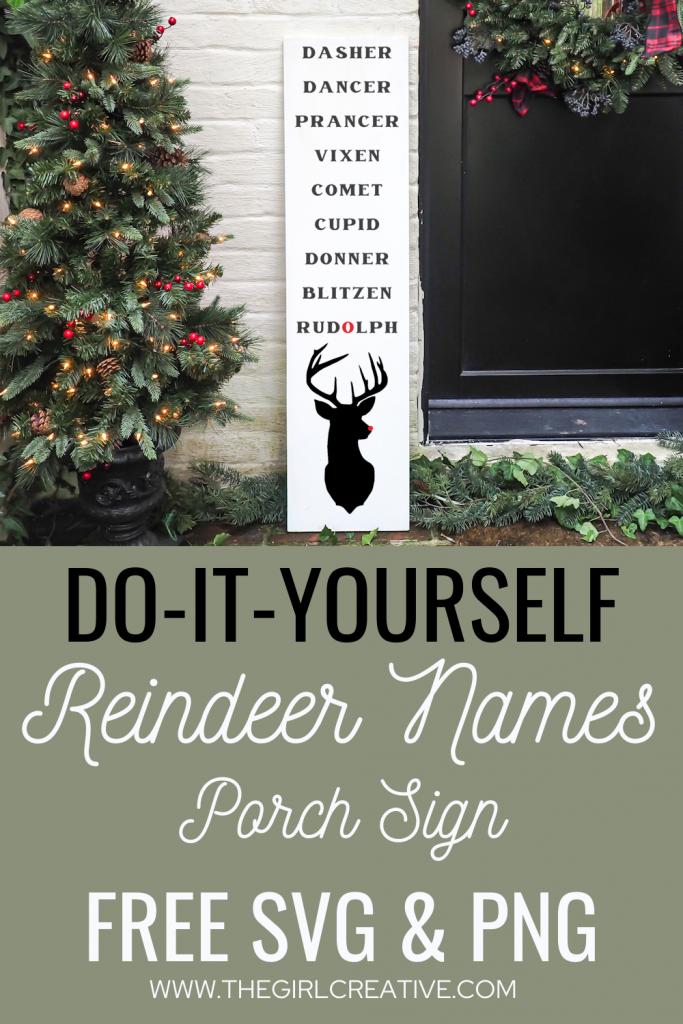 Reindeer Names Signs